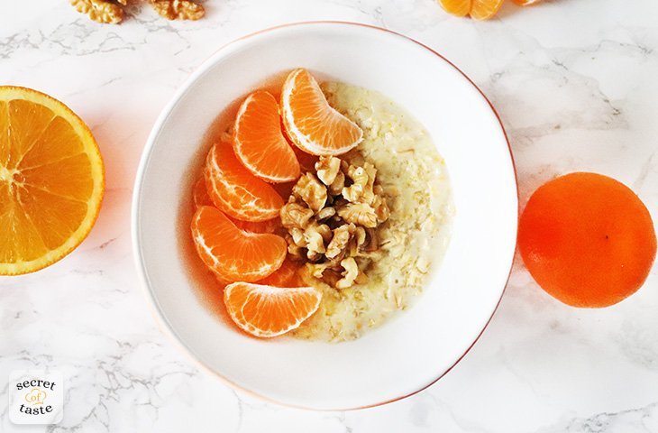 Owsianka z pomarańczą