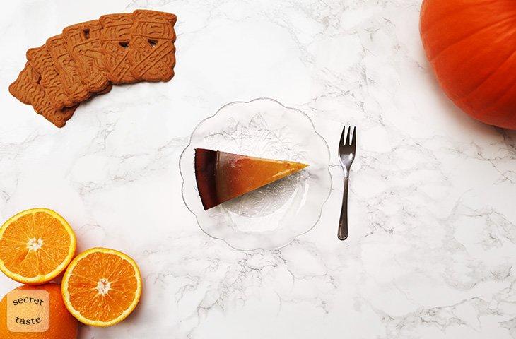 Sernik dyniowy z polewą pomarańczową