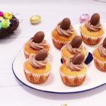 Wielkanocne muffiny z kremem kakaowym
